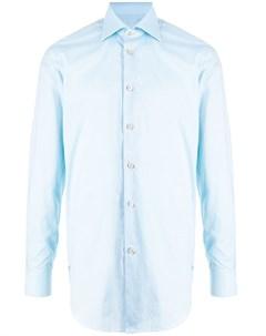 Поплиновая рубашка с косым воротником Kiton