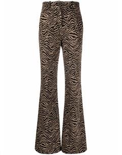 Расклешенные брюки с принтом Pinko