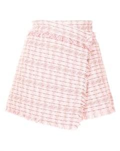 Твидовая юбка шорты с запахом Msgm