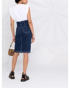 Джинсовая юбка с поясом Pinko