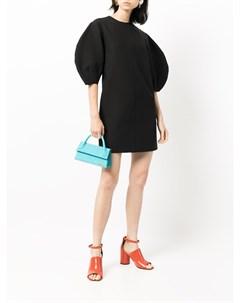 Платье с объемными рукавами Msgm