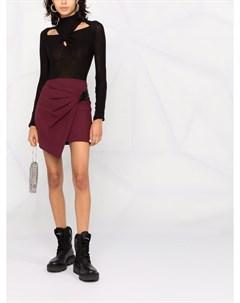 Асимметричная юбка мини Gonna с драпировкой Patrizia pepe