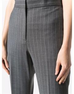 Расклешенные брюки в тонкую полоску Msgm