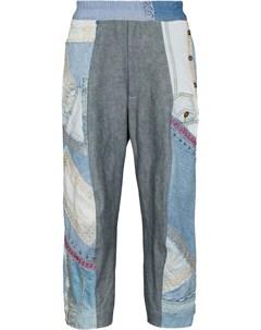 Укороченные джинсы в технике пэчворк By walid