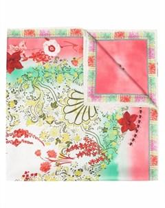 Шелковый платок с цветочным принтом Etro