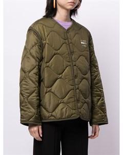 Стеганая куртка с принтом Smiley Joshua sanders