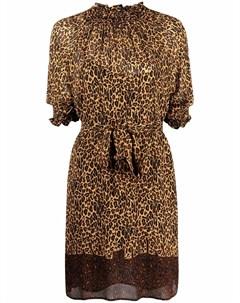 Платье мини с леопардовым принтом Pinko
