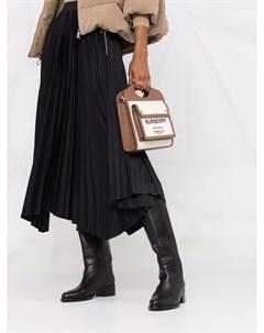 Плиссированная юбка миди асимметричного кроя Fabiana filippi