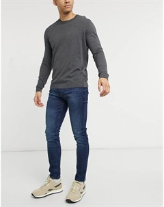 Темно синие зауженные джинсы Tom tailor