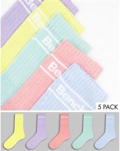 Набор из 3 пар спортивных носков пастельных оттенков с логотипом Candela Bench