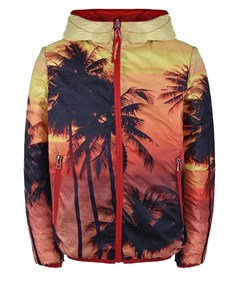 Двухсторонняя куртка красный пальмы детская Freedomday