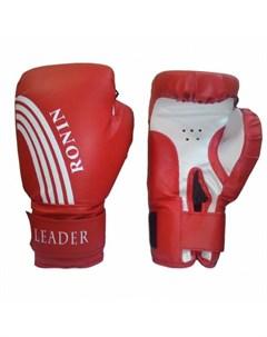 Боксерские перчатки Leader красный 4 oz Ronin