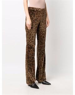 Расклешенные брюки с леопардовым принтом Etro