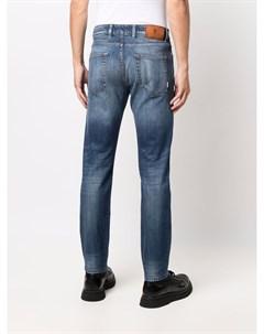 Узкие джинсы с эффектом потертости Pt05
