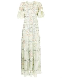 Клетчатое платье Antonia с пайетками Needle & thread