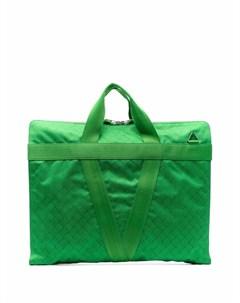 Жаккардовый портфель с круговой молнией Bottega veneta