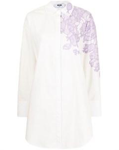 Платье рубашка с принтом Msgm