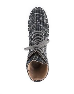 Твидовые ботинки на шнуровке Stuart weitzman