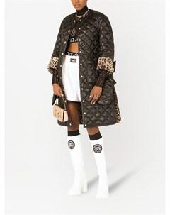 Стеганое пальто на пуговицах Dolce&gabbana