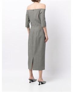 Платье миди с открытыми плечами Martin grant