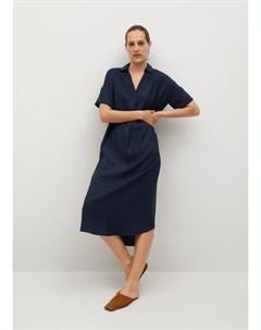 Струящееся миди платье Byel h Mango