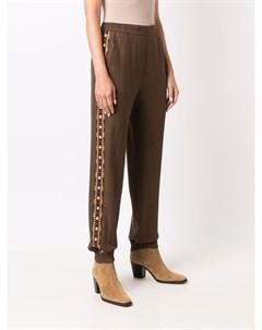 Зауженные брюки с геометричной вышивкой Etro
