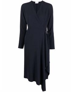 Платье миди с запахом и длинным рукавами Parosh