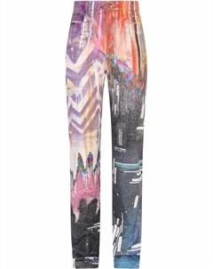 Прямые джинсы с принтом Dolce&gabbana