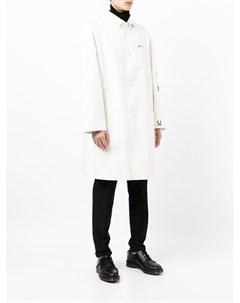 Однобортное пальто с графичным принтом Raf simons x fred perry