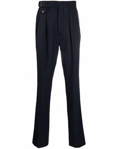 Шерстяные брюки прямого кроя Lardini