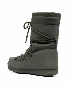 Непромокаемые сапоги на шнуровке Moon boot
