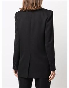Двубортный пиджак с заостренными лацканами Saint laurent