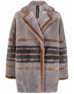 Двубортное пальто в полоску Blancha
