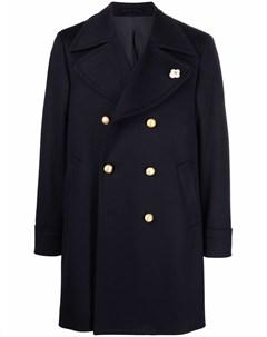 Двубортное шерстяное пальто Lardini
