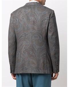 Пиджак с принтом пейсли Etro