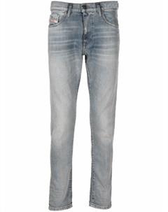 Узкие джинсы с эффектом потертости Diesel