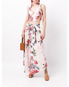Широкие брюки с цветочным принтом Patbo