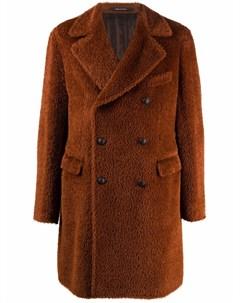 Двубортное шерстяное пальто Tagliatore