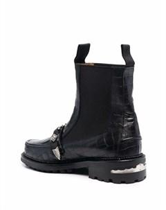 Ботинки с тиснением под крокодила Toga virilis