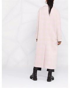 Однобортное пальто в клетку Msgm
