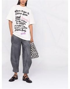 Длинная футболка с надписью Msgm