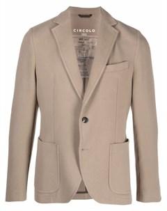 Однобортный пиджак с заостренными лацканами Circolo 1901