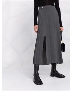 Плиссированная юбка миди Brunello cucinelli