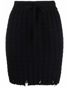 Трикотажная юбка с эффектом потертости Pinko