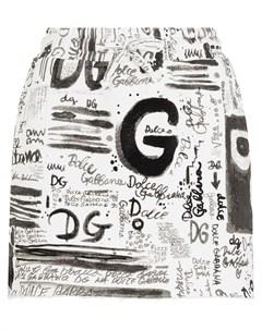 Юбка мини с логотипом Dolce&gabbana