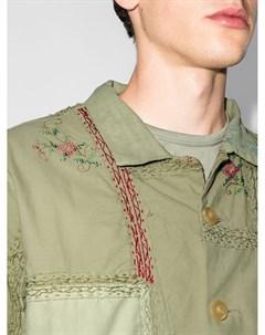 Куртка рубашка Jono с цветочной вышивкой By walid
