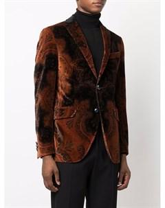 Бархатный пиджак с принтом пейсли Etro