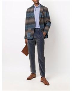 Однобортный пиджак с геометричным узором Etro