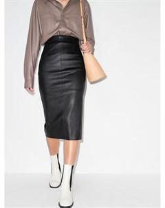 Кожаная юбка карандаш Brunello cucinelli