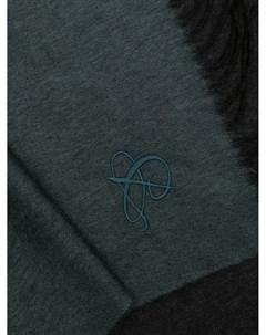 Кашемировый шарф с вышитым логотипом Canali